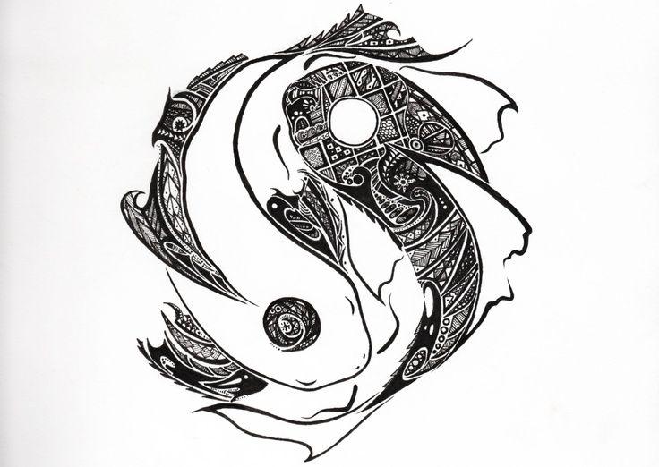 yin yang tribal tattoo. Black Bedroom Furniture Sets. Home Design Ideas