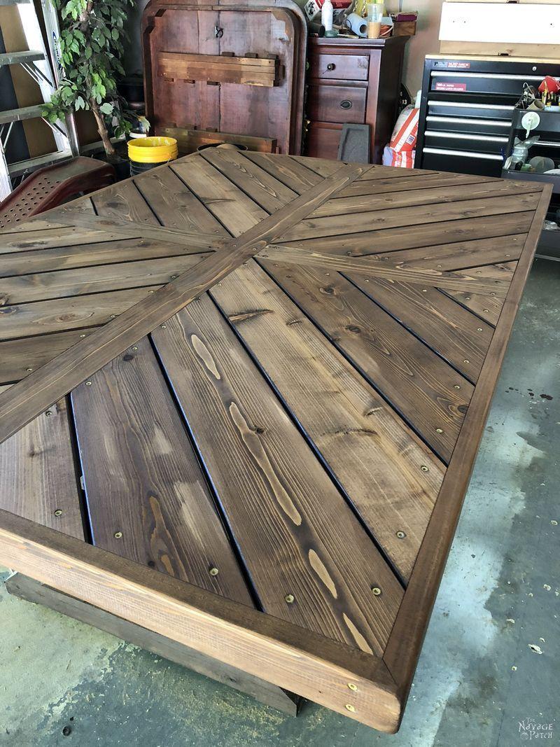 Diy Farmhouse Table My Husband Made My 10 Foot 8 Inch Farmhouse
