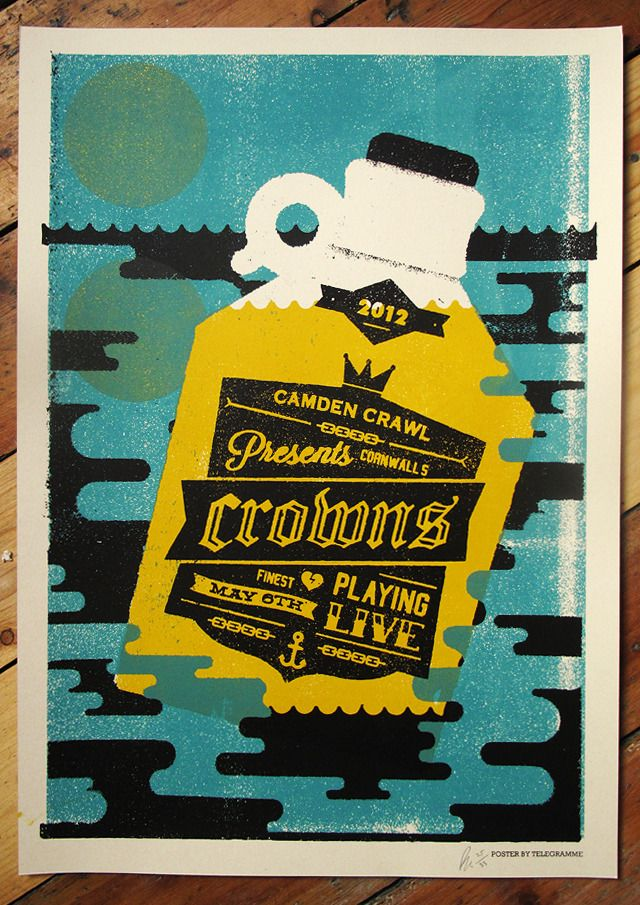 Image of CROWNS GIG POSTER