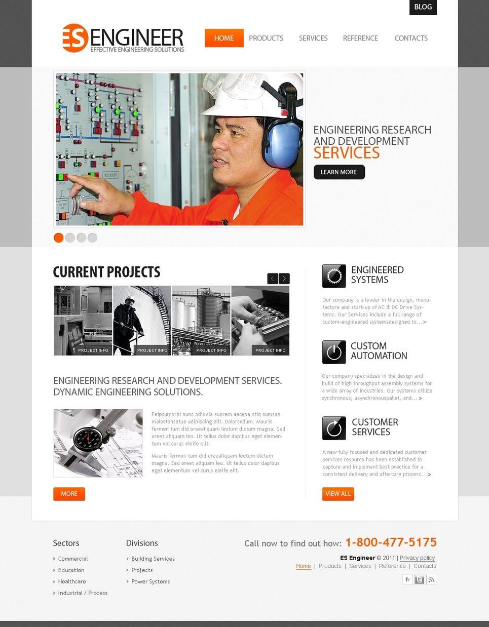 Industrial PSD Template 56380 Psd templates, Templates