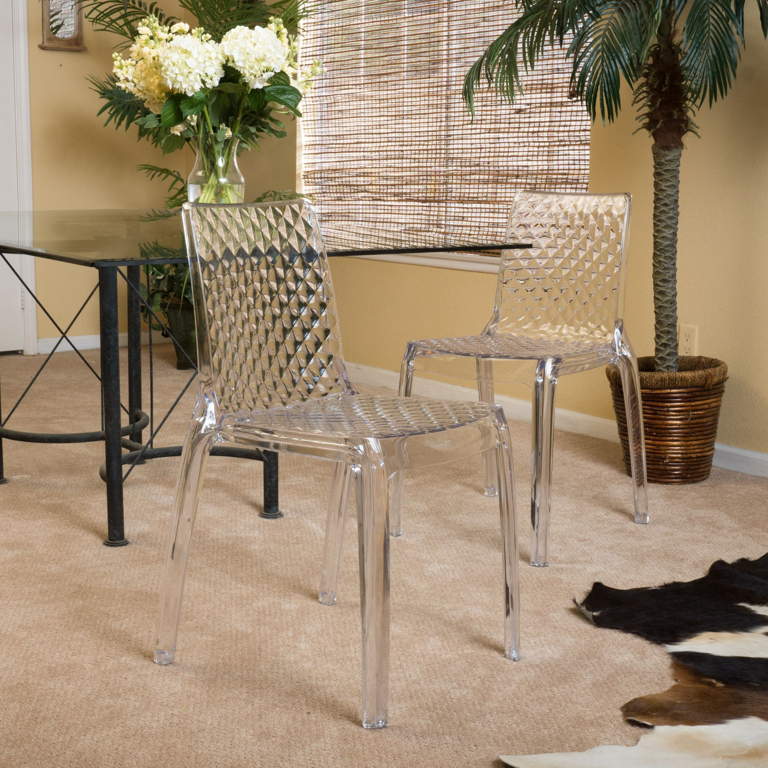 Christopher Knight Home Adalyn Transparent Side Chair Set of 2