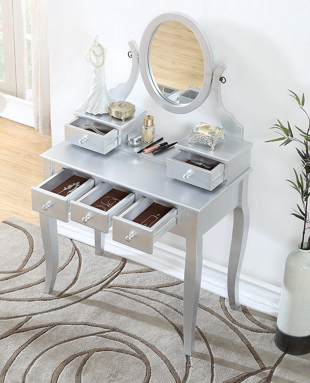 Ashley Stylish Tables Sale Wood makeup vanity, Makeup