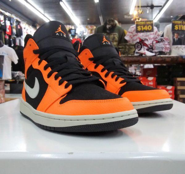 Jordan 1 Mid Black Cone Size 9 Jordan 1 Mid Jordans Jordan 1