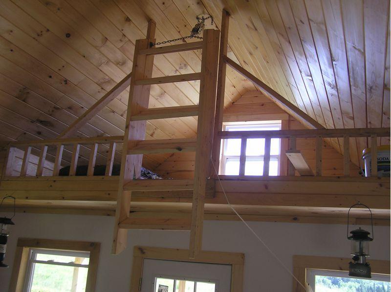 16 X 20 Cabin In Maine 1 Cabin Loft Loft Stairs Loft Ladder