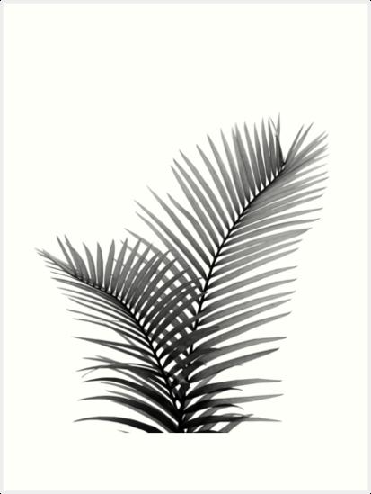 Intertwined Palm Leaves In Love 1 Tropical Decor Art Art Print By Anitabellajantz In 2021 Leaf Print Art Fine Line Tattoos Art Prints