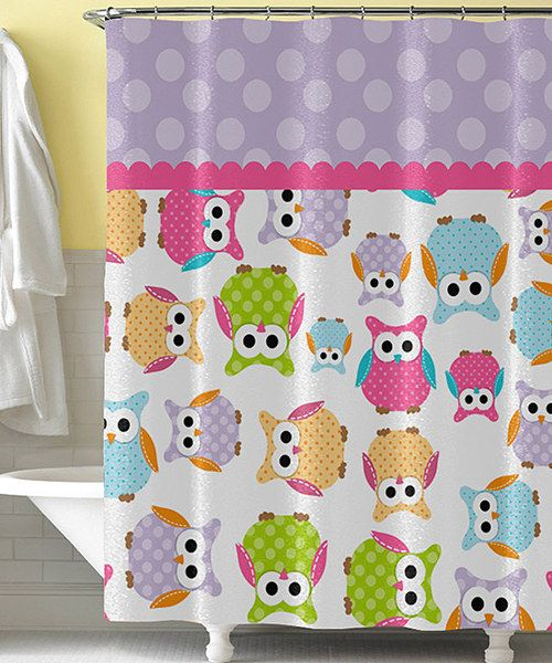 Take A Look At This Purple Pink Owl Shower Curtain On Zulily Today Owl Shower Owl Bathroom Owl Room Decor