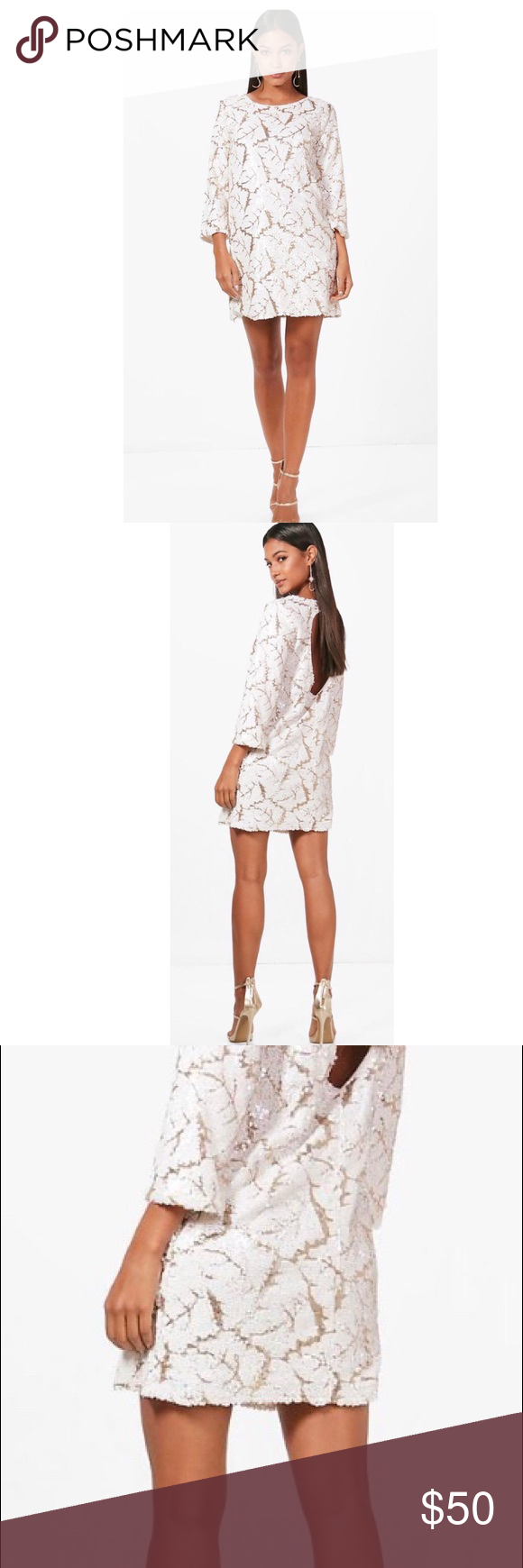 Sexy whitegold sequin dress holiday ready absolutely fabulous