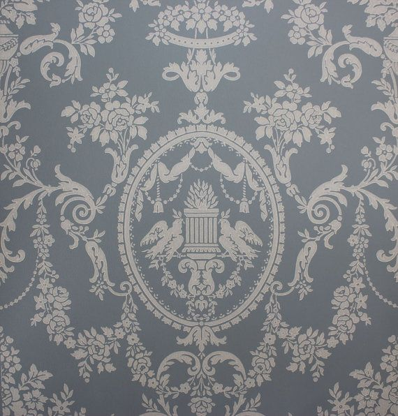 1920 S Antique Vintage Wallpaper Victorian Blue Lovebirds Made In England Antique Wallpaper Victorian Wallpaper Vintage Wallpaper