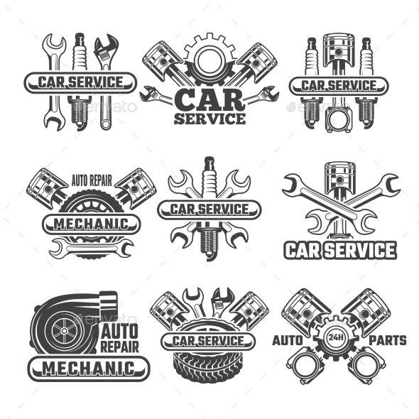 Design Template Of Labels And Badges Auto Service Car Repair Service Auto Repair