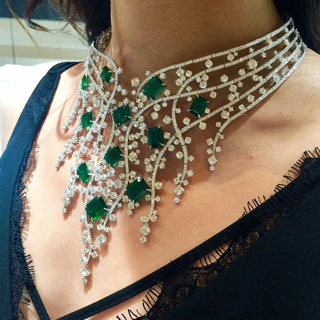 Molujewellery Thisiscouture Couture2017 Molujewellery Fancy Necklace Beautiful Diamond Necklace Necklace Designs