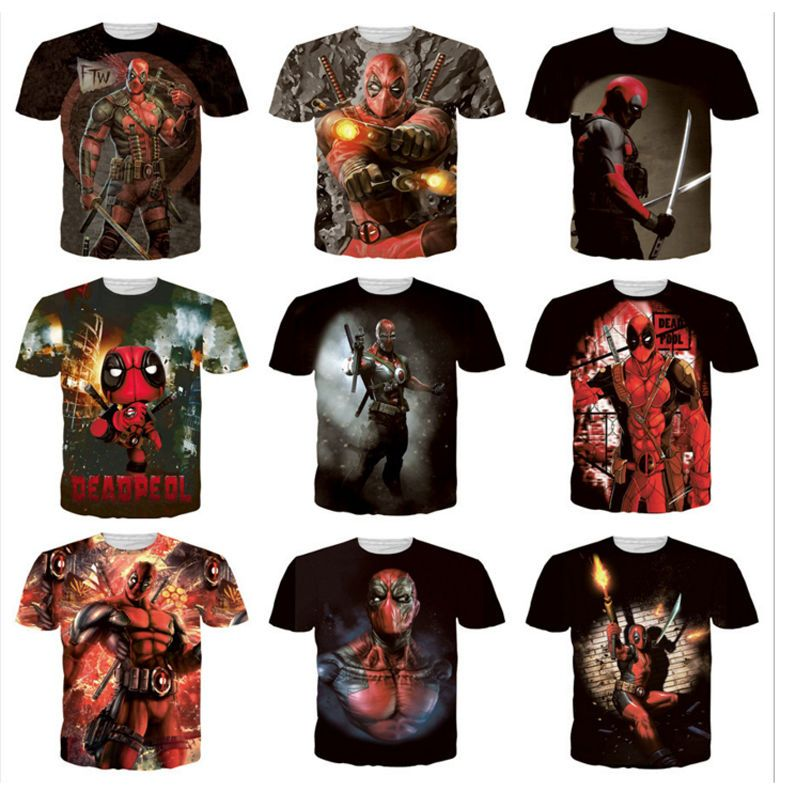Hot Sale Mens Womens Anime Deadpool 3D Print Casual T-Shirt Tee ...