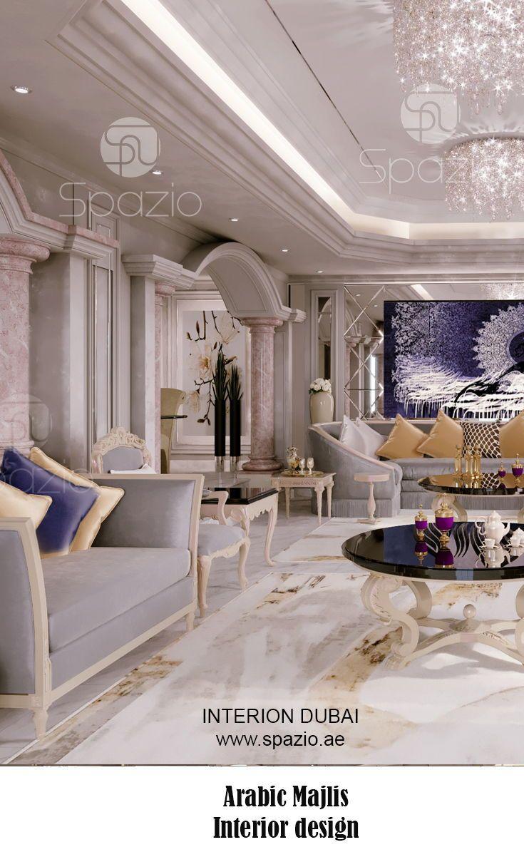 Majlis Interior Design In Dubai Interior Design Interior Design Dubai Luxury Interior Design