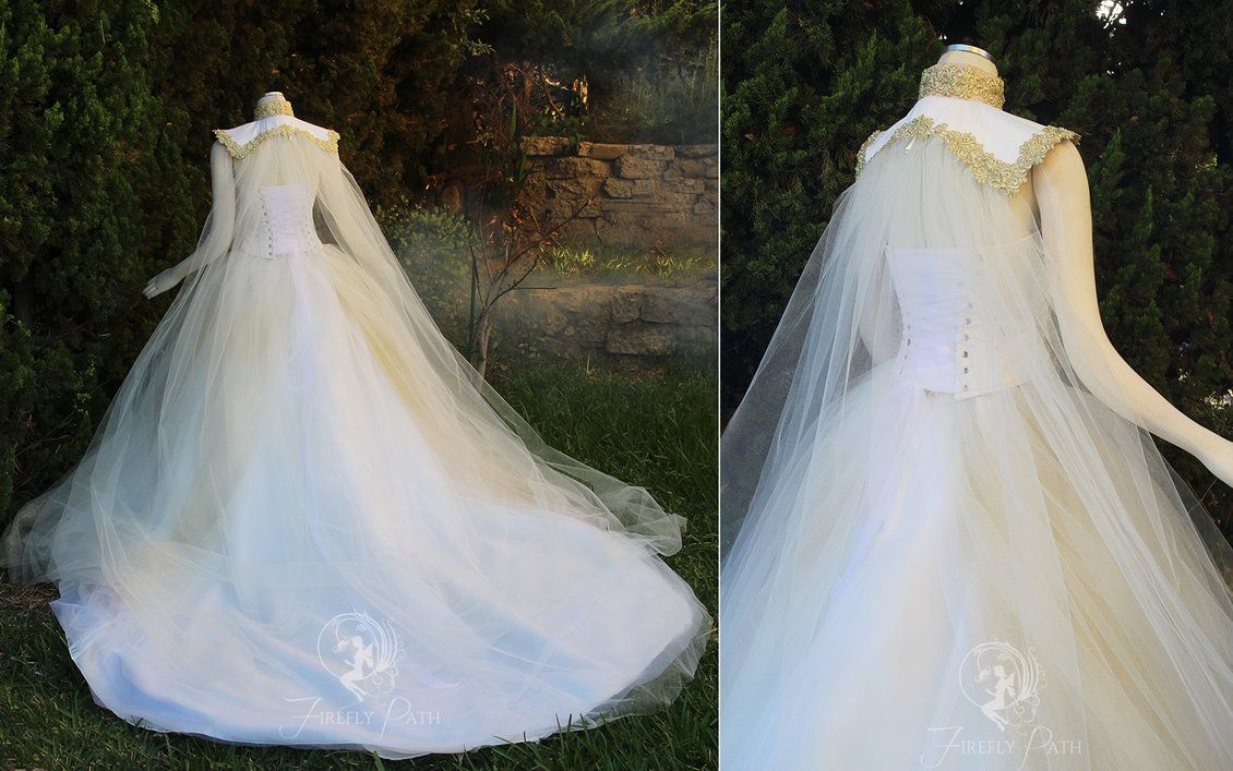 Goddess of Angels Gown Back View by Lillyxandra.deviantart.com on ...