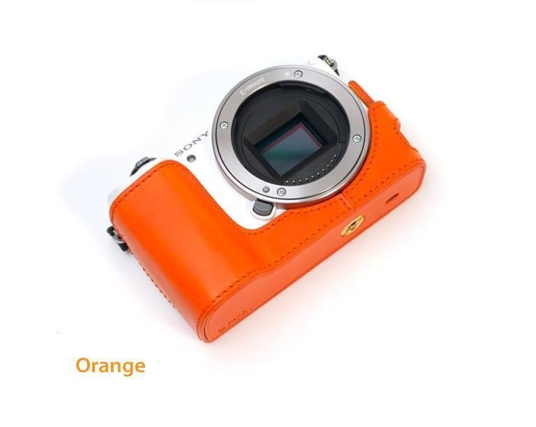 Dignis SONY A5000 A5100 Half Case Italy Buttero leather Orange +