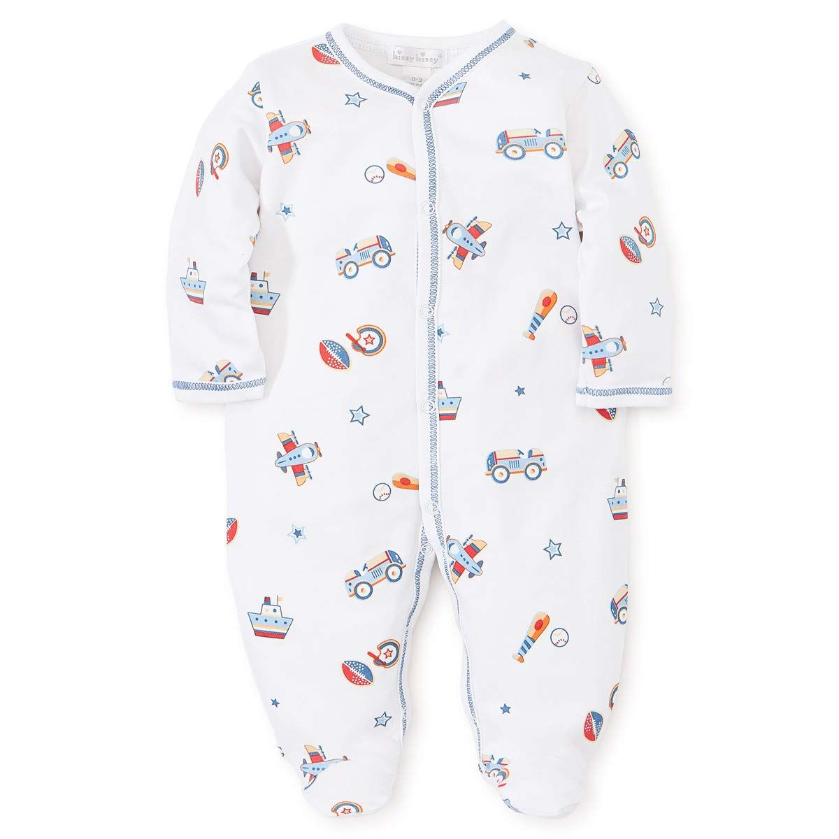 Kissy Kissy Baby Boys Its A Boy Print Footienewborn Click Image To Examine More Details This Is An Affil Baby Boy Outfits Baby Boy Fashion Kids Outfits