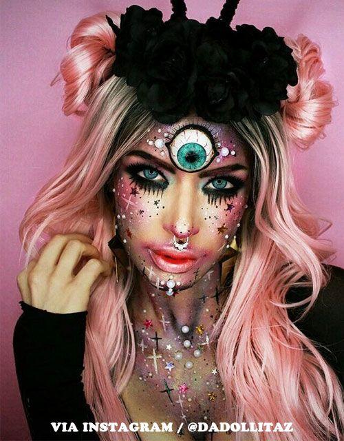 13 Halloween Makeup Ideas For Pink Hair Halloween Makeup Inspiration Halloween Makeup Diy Makeup Looks