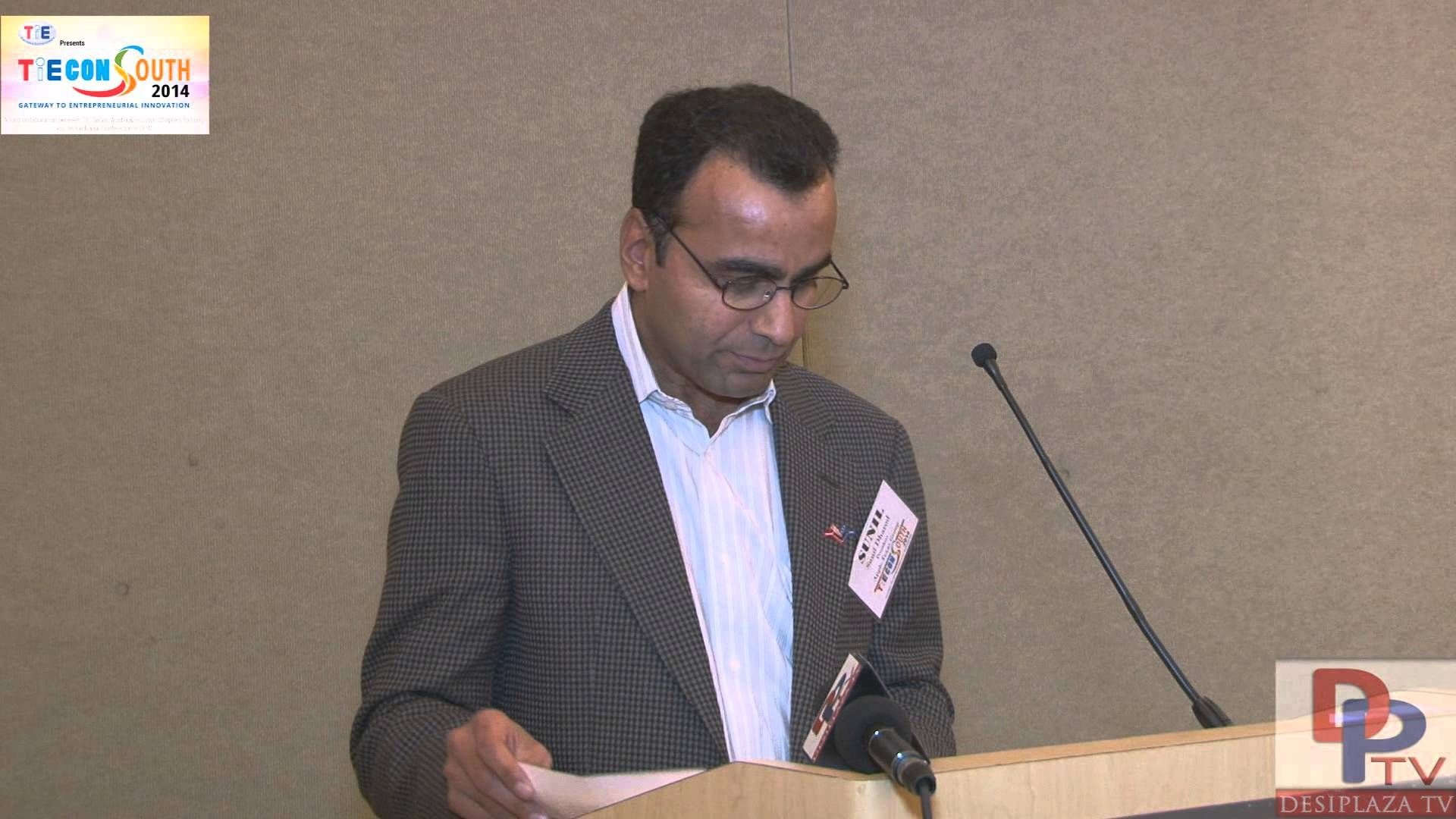 Mr.Sunil Dharodia giving his speech at TiECon Southwest 2014