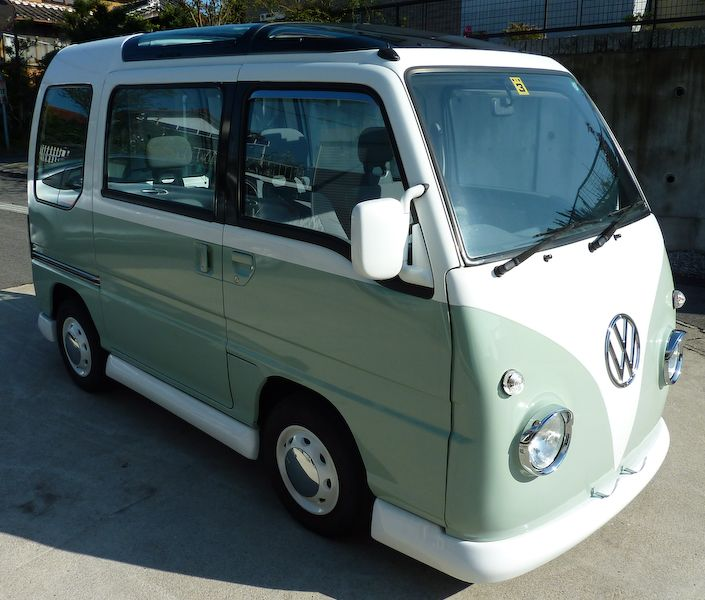 1994 subaru sambar supercharged awd kei van for sale. Black Bedroom Furniture Sets. Home Design Ideas