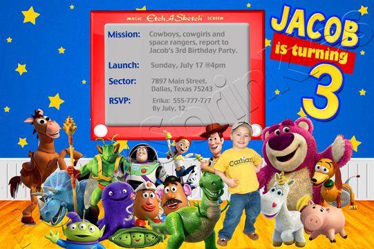 Toy Story Invitation Like The Etch A Sketch Invite Idea
