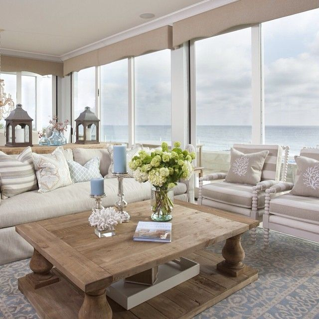 Seaside Cottage Living Room: Vicky's Home: Estilo Coastal Inspirado En El Mar / Coastal