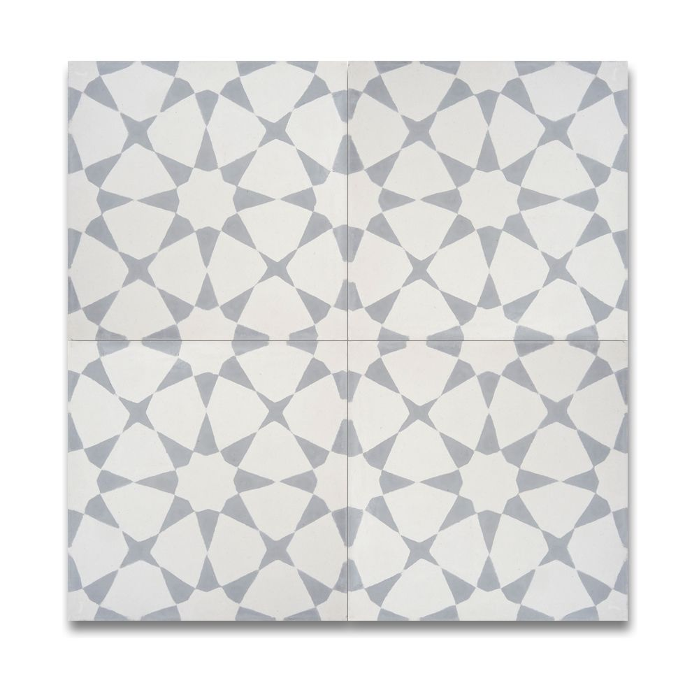 Pack Of 12 Medina Grey And White Handmade Cement And
