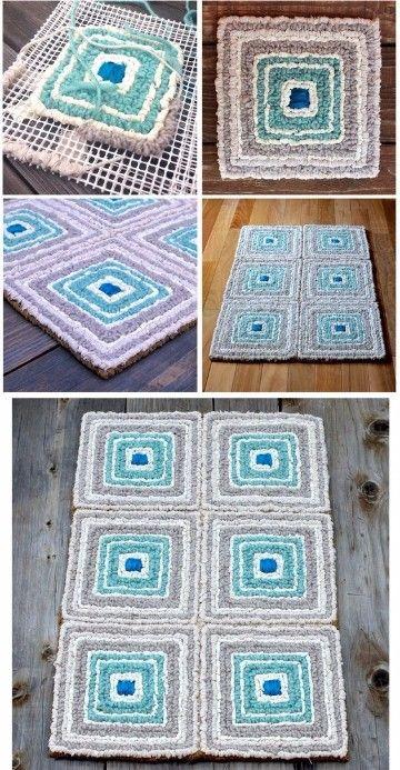 Como hacer alfombra de trapillo rectangular patrones ideas para el hogar pinterest - Como hacer alfombras de trapillo trenzadas ...