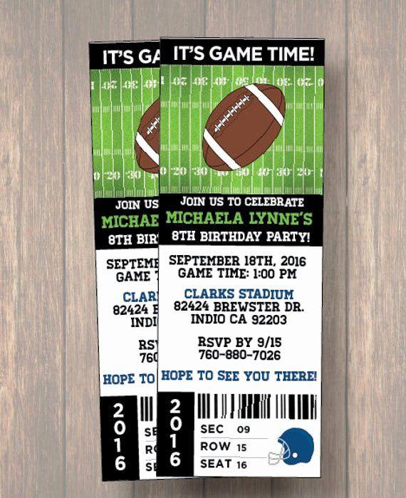Football Invitation Template Free Luxury Digital Birthday ...