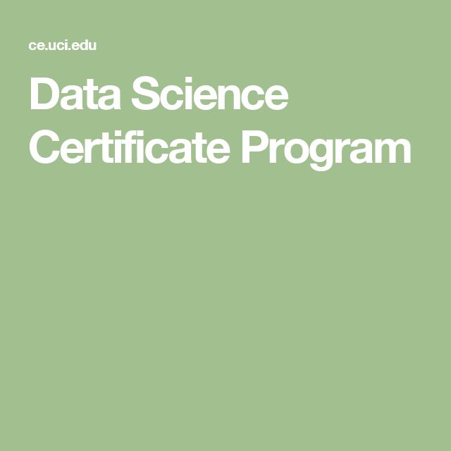 Data Science Certificate Program Data Science Materials