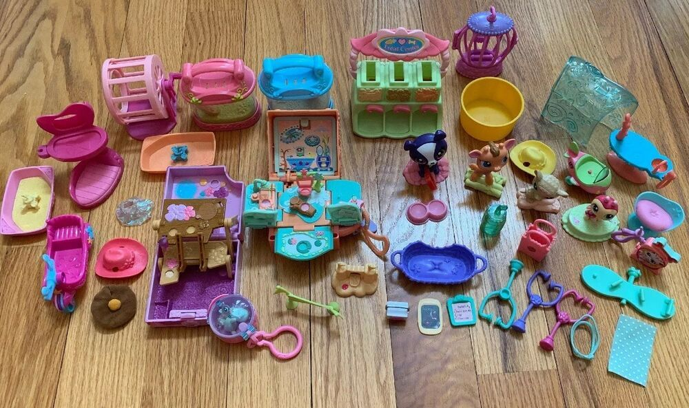 Littlest Pet Shop Lot of Accessories And Figures eBay in
