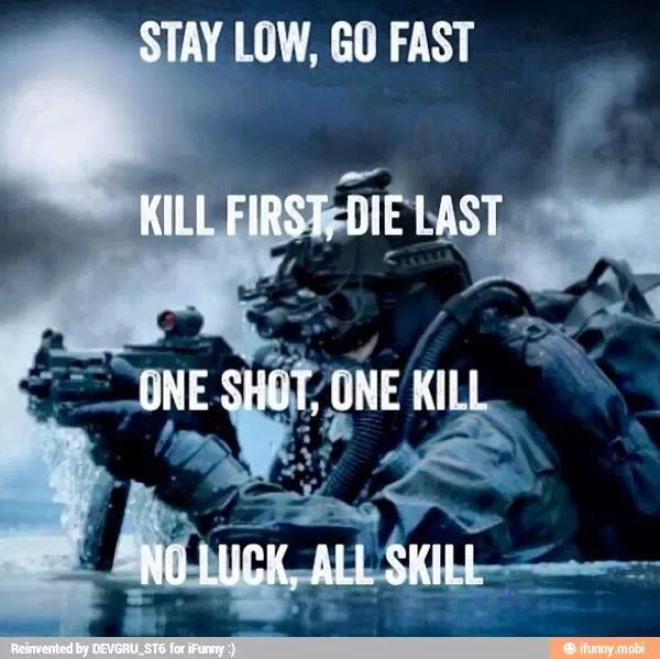 Soldier Quotes No Luck All Skill Check Out More Tips And Workouts Here Httpsea