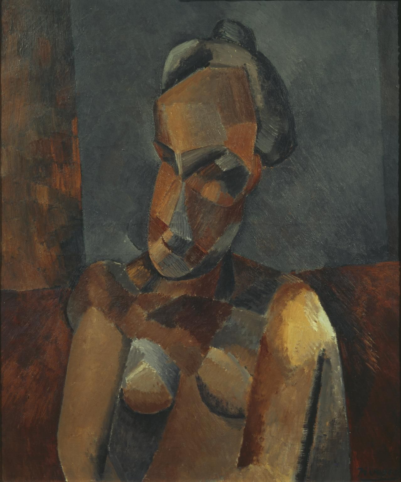 Pablo Picasso Bust of a Woman 1909