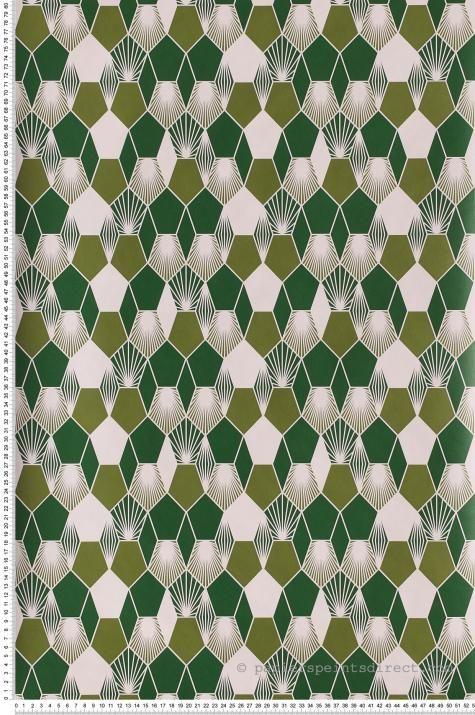 Papier Peint hamac vert olive et vert de vessie – Jungle de Caselio | Réf. JUN100017333
