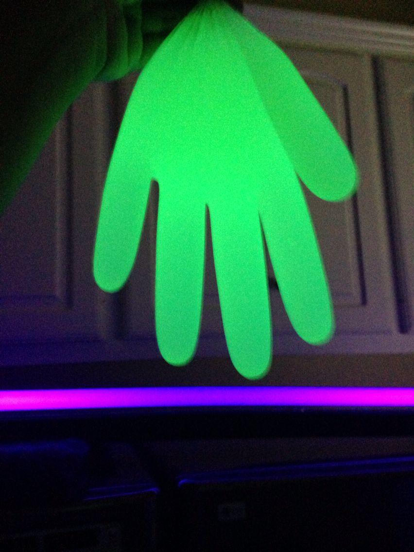 Black light gloves - Easy Diy Glove Glows Under A Black Light Supplies Latex Glove Neon Paint Any