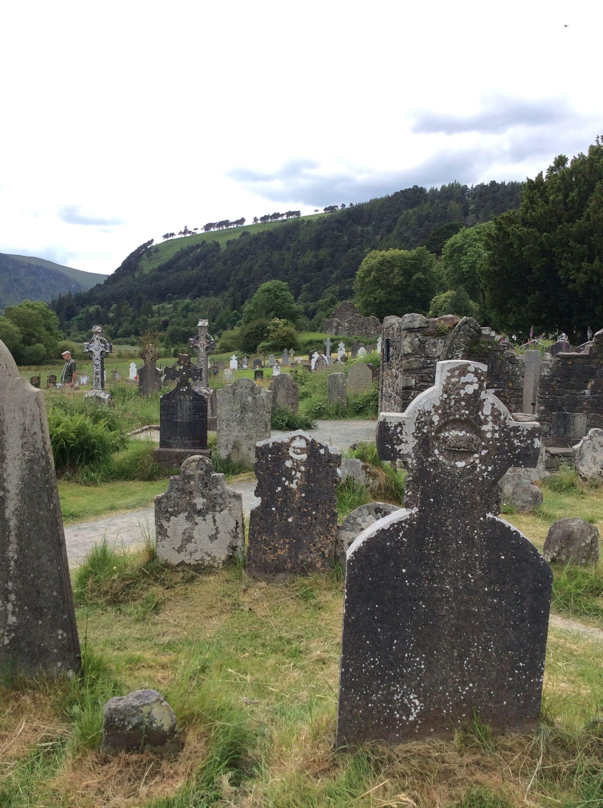 Celtic cemetary at Glendalough.