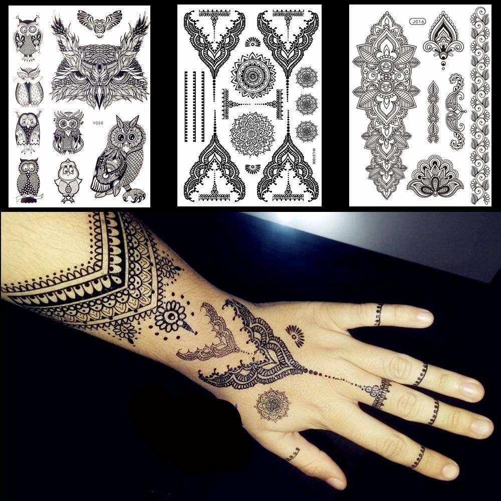 Tatuaje De Palma De Hierro Palm Springs Luxury Amazon Lace Black Henna Tatuaje Temporal St In 2020 Palm Tattoos Black Henna Fake Tattoos