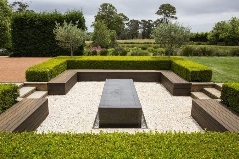 Arena y gravilla para el dise o de jardines modernos arquitectura pinterest - Diseno de jardines modernos ...