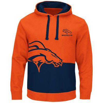 outlet store db7c8 1b714 Men's Denver Broncos Majestic Orange Coin Toss Pullover ...