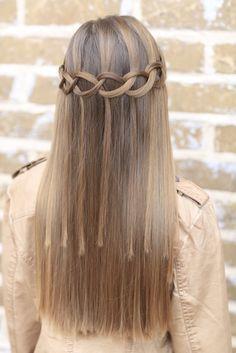 Cute Girl Hairstyles Loop Waterfall Braidcute Girls Hairstylessuch A Cool Pattern