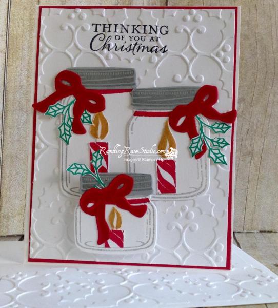 Christmas Jar of Love...details @ramblingrosestudio.com/holiday-jar-of-love/