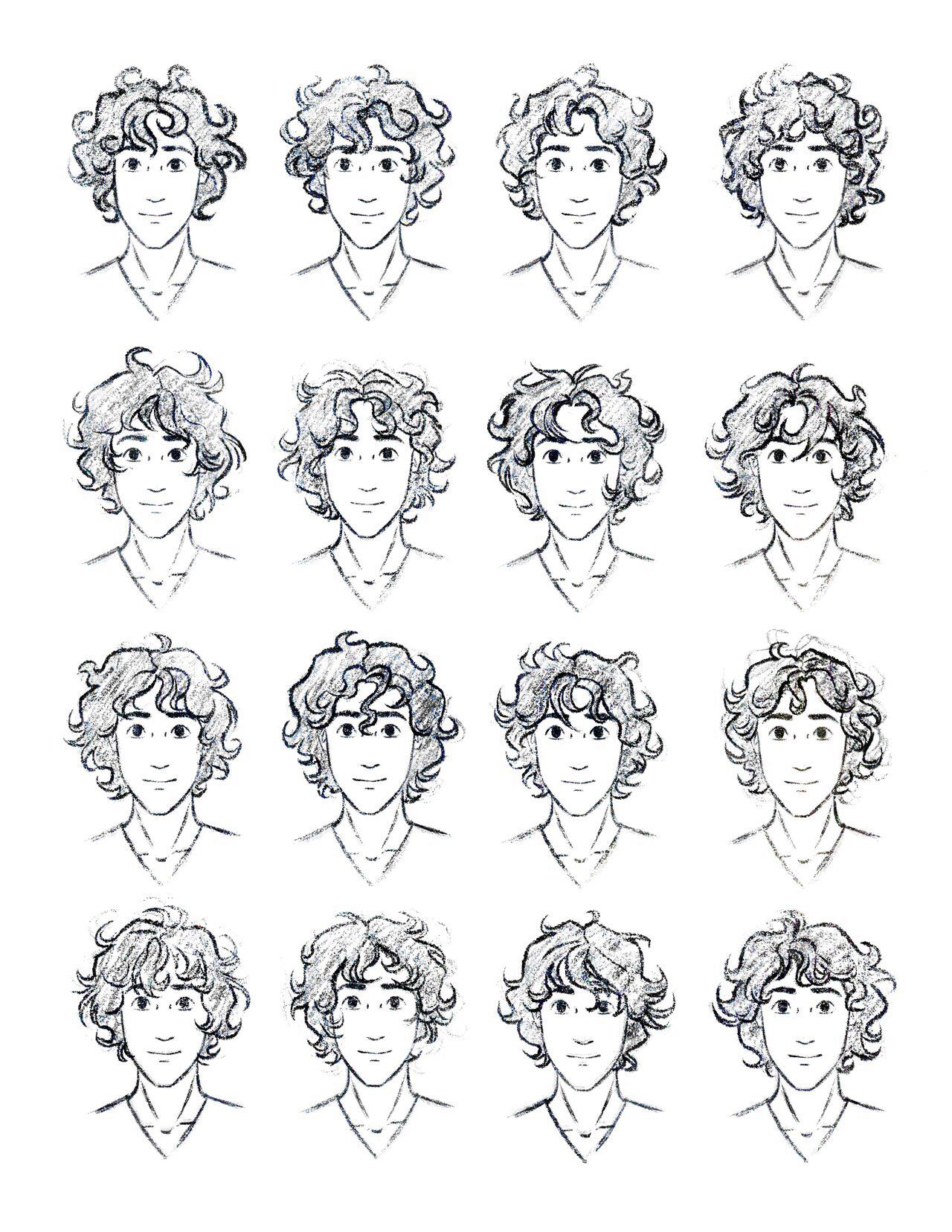 Curly hair reference for guys... Totally need this