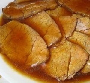 Photo of Roast beef with mustard