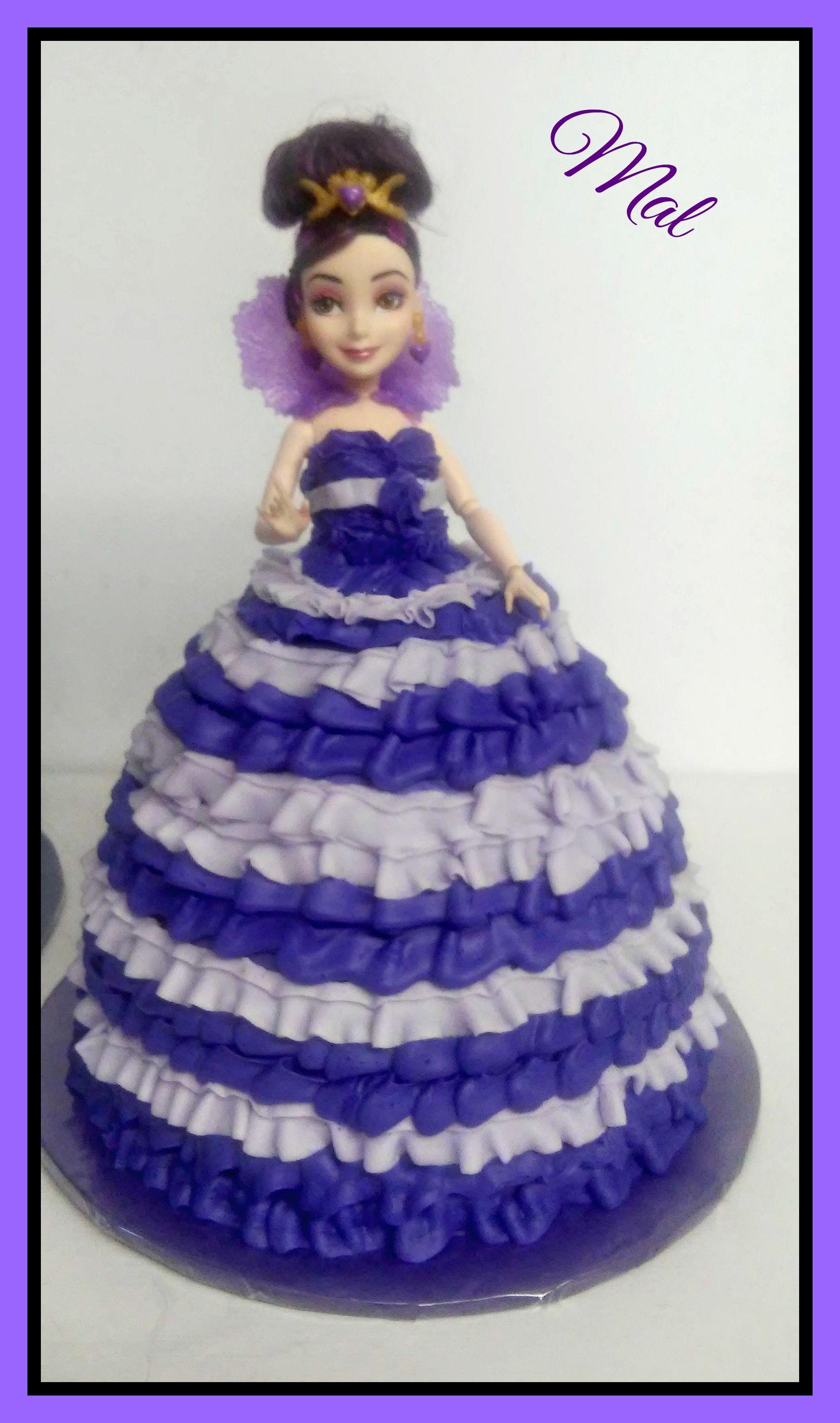 Mal Descendant doll cake Girly Girl Cakes Pinterest Cake