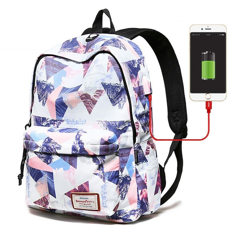 Photo of US $17.8 50% OFF|Women External USB Charge Backpack Waterproof Backpack Female Mochila Escolar Girls Laptop School Bags Backpack for teens|Backpacks|   – AliExpress
