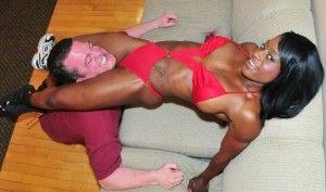 Mixed wrestling kelli provocateur takes on billy boston - 4 1