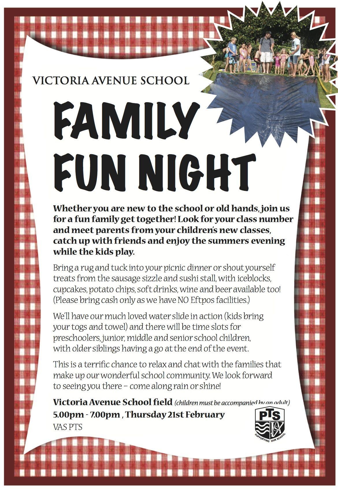 VASchool Family Fun Night Flyer
