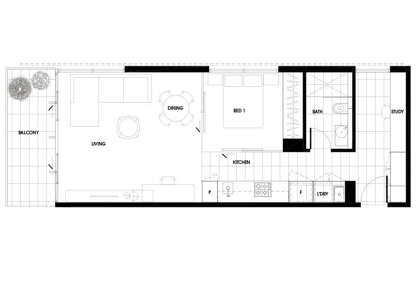 Luxury Apartment Floor Plans Melbourne Inner Suburbs - plan 3 k che