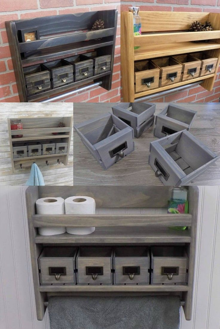 My upstairs bathroom is fairly good size but there's not a lot of room for storage. I love this shelf because it gives me the chance to utilize the space above my toilet. Plus, it has a country flair I love. #ad #homeorganization #countrydecor #rusticdecor #countryrusticdecor #woodshelves #bathroomshelf #bathroomstorage