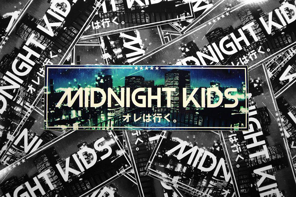Midnight kid slap sticker stickers school decal midnight