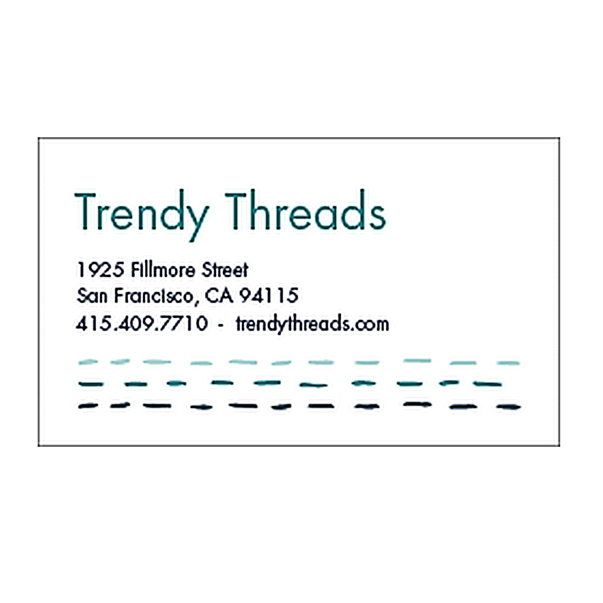 cool color and font/style combo Stitch Business Cards | FPD ...