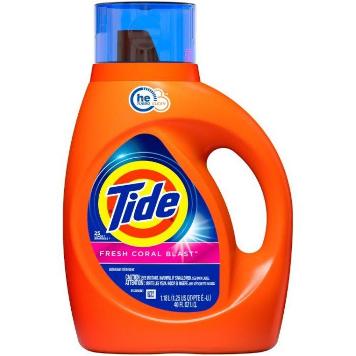 Tide Liquid Laundry Detergent, Fresh Coral Blast, 25 loads